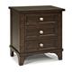 Intercon Furniture Hayden 3 Drawer Nightstand in Rough Sawn and Espresso