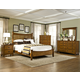 Intercon Furniture Pasadena Revival 4-Piece Panel Bedroom Set in Medium Brown
