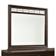 Intercon Furniture Hayden Landscape Mirror in Rough Sawn and Espresso
