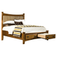 Intercon Furniture Pasadena Revival Queen Panel Storage Bed in Medium Brown