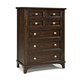 Intercon Furniture Hayden 5 Drawer Chest in Rough Sawn and Espresso