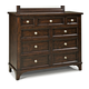 Intercon Furniture Hayden 9 Drawer Chesser in Rough Sawn and Espresso
