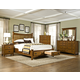 Intercon Furniture Pasadena Revival 4-Piece Panel Storage Bedroom Set in Medium Brown
