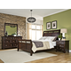 Intercon Furniture Hayden 4-Piece Sleigh Bedroom Set in Rough Sawn and Espresso