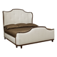 Bernhardt Miramont Queen Upholstered Sleigh Bed in Dark Sable