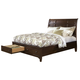 Intercon Furniture Jackson California King Sleigh Storage Bed in Raisin
