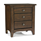 Intercon Furniture Jackson 3 Drawer Nightstand in Raisin