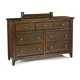 Intercon Furniture Jackson 7 Drawer Dresser in Raisin