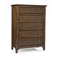 Intercon Furniture Jackson 5 Drawer Chest in Raisin