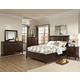 Intercon Furniture Jackson 4-Piece Sleigh Bedroom Set in Raisin