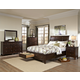 Intercon Furniture Jackson 4-Piece Sleigh Storage Bedroom Set in Raisin