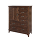 Intercon Furniture Star Valley Drawer Chest with Door in Rustic Cherry SR-BR-6206D-RCY-C