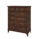 Intercon Furniture Star Valley Drawer Standard Chest in Rustic Cherry SR-BR-6206-RCY-C