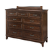 Intercon Furniture Star Valley Drawer Standard Dresser in Rustic Cherry SR-BR-6209-RCY-C