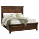 Intercon Furniture Star Valley Queen Panel Bed in Rustic Cherry