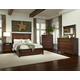 Intercon Furniture Star Valley 4-Piece Panel Bedroom Set in Rustic Cherry