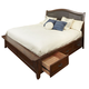 Intercon Furniture Star Valley King Upholstered Storage Bed in Rustic Cherry