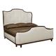 Bernhardt Miramont King Upholstered Sleigh Bed in Dark Sable