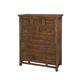 Intercon Furniture Wolf Creek Drawer Chest in Vintage Acacia WK-BR-6106C-VAC-C