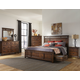 Intercon Furniture Wolf Creek 4-Piece Storage Bedroom Set in Vintage Acacia