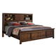 Intercon Furniture Wolf Creek Queen Bookcase Bed in Vintage Acacia