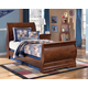 Wilmington 4-Piece Youth Sleigh Bedroom Set in Dark Red/Brown