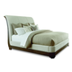 A.R.T Furniture St. Germain King Upholstered Platform Sleigh Bed in Coffee/ Foxtail
