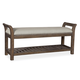 A.R.T Furniture St. Germain Bed Bench in Coffee/ Foxtail 215149-1513