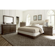 A.R.T Furniture St. Germain 4-Piece Upholstered Platform Sleigh Bedroom Set in Coffee/ Foxtail