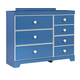 Bronilly 7-Drawer Dresser in Blue B045-21