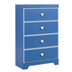 Bronilly Four Drawer Chest in Blue B045-44