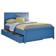 Bronilly Full Storage Panel Bed in Blue