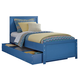 Bronilly Twin Storage Panel Bed in Blue
