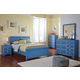 Bronilly Modern 4-Piece Youth Panel Bedroom Set in Blue