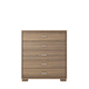 Manhattan Comfort Astor 5-Drawer Dresser in Chocolate/ Pro Touch 60636