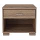 Manhattan Comfort 1-Drawer Astor Shelf Nightstand in Chocolate/ Pro Touch 50736