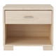 Manhattan Comfort 1-Drawer Astor Shelf Nightstand in White Oak Vanilla/ Pro Touch 50762