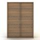 Manhattan Comfort Bellevue 2-Door Wardrobe in Chocolate 97836-M