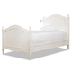 Smartstuff Furniture Genevieve Reading Twin Bed in French White 434A038 CLOSEOUT