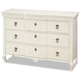 Smartstuff Furniture Genevieve 5 Drawer Dresser in French White 434A002
