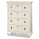 Smartstuff Furniture Genevieve 4 Drawer Chest in French White 434A010 CLOSEOUT