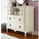 Smartstuff Furniture Genevieve Mademoiselle Chest in French White 434A004