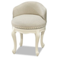 Smartstuff Furniture Genevieve Swivel Stool in French White 434A071