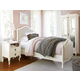 Smartstuff Furniture Genevieve 4-Piece Youth Bedroom Set in French White