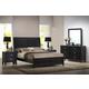 Baxton Studio Eaton 5-Piece Queen Modern Bedroom Set in Dark Walnut