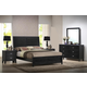 Baxton Studio Eaton 5-Piece King Modern Bedroom Set in Dark Walnut