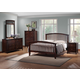 Baxton Studio Metropolitan King 5 Piece Wooden Modern Bedroom Set in Dark Brown