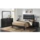 Baxton Studio Carolina 5-Piece King Modern Bedroom Set in Black