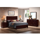 Baxton Studio Trowbridge Cherry 5-Piece King Modern Bedroom Set in Cherry