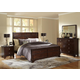 Baxton Studio Tichenor King 5 Piece Wooden Modern Bedroom Set in Dark Brown Cherry